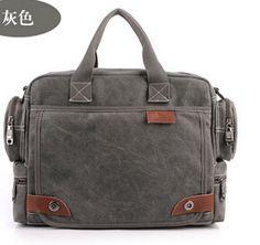 Leather Canvas Bag Messenger Bag Laptop Bag   Man bags, Canvases ...