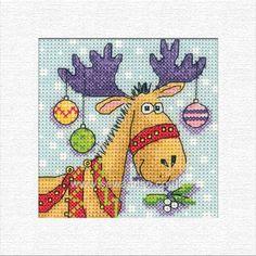 Buy Reindeer Card Cross Stitch Kit Online at www.sewandso.co.uk