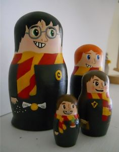 HP Nesting dolls. The smallest one is supposed to be Neville, but I like to pretend it's Colin Creevey. :P