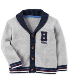 Carter's Cotton Varsity Hunk Cardigan, Baby Boys (0-24 months) - Gray 18 months
