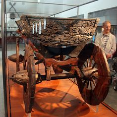 Cart from the Oseberg grave. Viking Museum, Oslo, Norway.