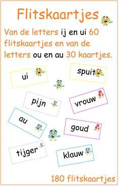 Dubbelklanken - Digibord Onderbouw Primary Education, Kids Education, Learn Dutch, Creative Teaching, Preschool Activities, Kids Learning, Vocabulary, Language, Writing