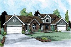 Multi-Family Plan 99429 | Traditional    Plan with 3336 Sq. Ft., 6 Bedrooms, 6 Bathrooms, 4 Car Garage