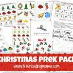 FREE Christmas PreK Pack