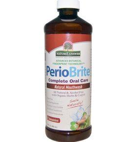 Nature's Answer, PerioBrite, Natural Oral Mouthwash, Cinnamint, 16 fl oz Fresh #periobrite