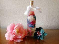Bathroom Decorative Bouquet in a Bottle, Bathroom Decor, Bathroom Decor in Handmade, Bathroom Shelf, Bathroom Art, Bathroom Floral Art, Silk