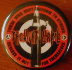 """THOUGHTCRIME pinback button badge 1.25"""" $1.50 plus shipping!"""