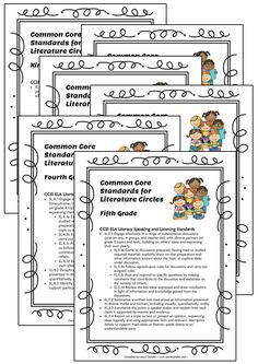 Literature Circles - Common Core Aligned & Fun! Download this free set of Common Core alignment connections for Literature Circles. Quick reference for your lesson plans!