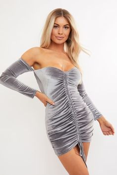 a695dc75 11 Best grey velvet dress images | Grey velvet dress, Velvet dresses ...