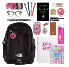 S in my bookbag, almost finals edition school supplies Middle School Supplies, School Kit, College School Supplies, Prep School, School Bags, Back To School, School Stuff, School Ideas, Backpack Essentials
