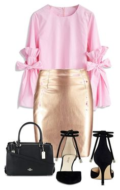 """""""Untitled #107"""" by skirtsandshirts on Polyvore featuring Chicwish, Nine West and Coach"""