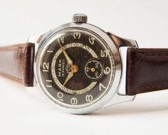 Soviet wrist watch Majak  men's watch  rare black by SovietEra, $74.00