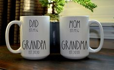 Pregnancy Announcement for Grandparents to be, Coffee Mugs for Grandparents to be, Cute Coffee Mugs for Grandpa and Grandma Pregnancy Announcement To Parents, First Time Pregnancy, Grandparent Pregnancy Announcement, Baby Announcement Photos, Surprise Pregnancy, Pregnancy Announcements, Pregnancy Photos, First Time Grandparents, Ultrasound Pictures