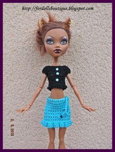 Top y falda para Monster High de mamimonster por DaWanda.com