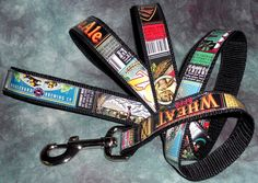 Dog Leash from Recycled Boulevard Brewing Co Beer labels by squigglechick, $26.00