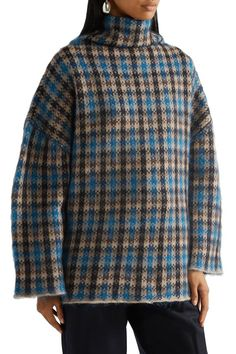Shop on-sale Intarsia-knit wool-blend sweater. Browse other discount designer Heavy Knit & more luxury fashion pieces at THE OUTNET Sweater Sale, Men Sweater, Blue Sweaters, Stella Mccartney, Wool Blend, Luxury Fashion, Men Casual, Plaid, Knitting