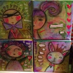 Just listed these for fun paintings in my Etsy shop!