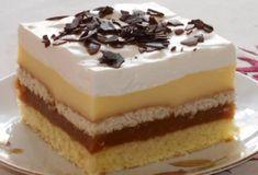 Fotorecept:Jablkové rezy so šľahačkou. Vanilla Cake, Tiramisu, Cheesecake, Food And Drink, Cooking Recipes, Pudding, Ethnic Recipes, Gardening, Food Cakes