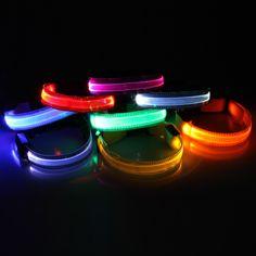 Cuello transparente LED collar del animal doméstico noche perro de seguridad intermitente