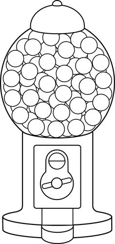 Free printable template for gumball machine i am using this for gumball machine line art pronofoot35fo Images