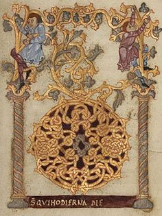 Sacramentary Decorated Initial D Attributed to Nivardus of Milan Ottonian, Fleury, France, about 1000 - 1025 Tempera colors, gold, and silver on parchment
