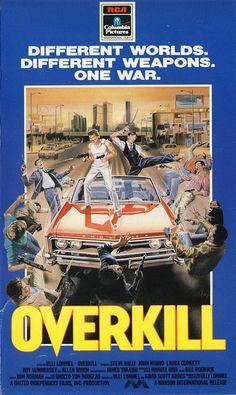 Overkill (1987) dir. Ulli Lommel - VHS cover art