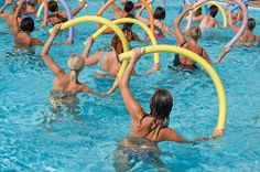 Fun Pool Exercises to Burn More Calories. yeah, this reminds me of the article I posted on fb about working out (or not).