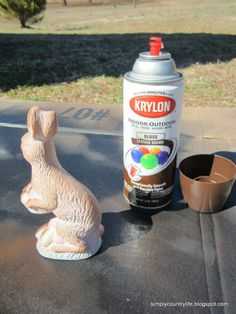 Turning a Thrift Store Bunny Into a Faux Chocolate Bunny :: Hometalk. Easter goodness at the Thrift Store. Easter Bunny, Easter Eggs, Bunny Bunny, Easter Crafts, Easter Ideas, Bunny Crafts, Easter Decor, Globe Decor, Thrift Store Crafts