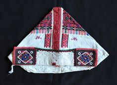 This image shows the front of a married woman's cap or bonnet from the town of Polomka (Polonka) Slovakia Folk Costume, Costumes, Married Woman, Bobbin Lace, Caps For Women, Embroidery, How To Wear, Helmets, Crowns