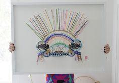 Merci Perci Makes Colourful Headdresses for Your Wall - Arts & Entertainment - Broadsheet Melbourne Crown Art, Arts And Entertainment, Color Stories, Art Studios, Decoration, Melbourne, Original Artwork, Diy Crafts, Entertaining