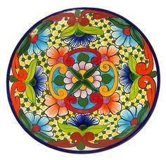 Multicolor Talavera Plate