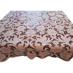 Antique Hand Made French Richelieu Tablecloth 107 x 63 by The Old Stone Mansion a Ruby Lane Shop
