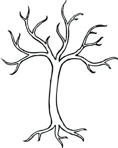 free tree stencils black tree clip art vector clip art online rh pinterest com black and white family tree clipart black and white tree clipart free