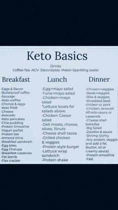 Keto for beginners. Keto basics for beginners. Keto Diet for beginners. Keto for begi Ketogenic Diet Meal Plan, Ketogenic Diet For Beginners, Keto Diet For Beginners, Diet Menu, Keto Diet Plan, Diet Meal Plans, Keto Diet Meals, Easy Keto Meal Plan, Ketosis Diet