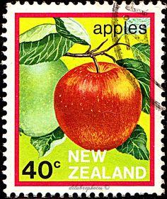 New Zealand.  FRUIT EXPORT.  APPLES.  Scott 764 A278, Issued 1983 Dec 7, Litho, 40c. /ldb.