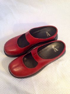 Women's DANSKO Red Shoes Clogs Mules Mary Janes with by Vinnifer, $40.00