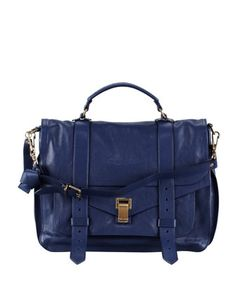PS1+Large+Satchel+Bag,+Midnight+by+Proenza+Schouler+at+Bergdorf+Goodman.