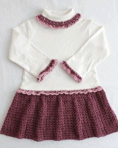 Petite Shells T-Shirt Dress Crochet Pattern