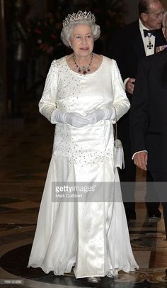 Visit To Malta By Queen Elizabeth Ii & The Duke Of Edinburgh.State Dinner With President Edward Fenech Adami At The Palace In Valletta. .