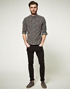ASOS Printed Cord Shirt