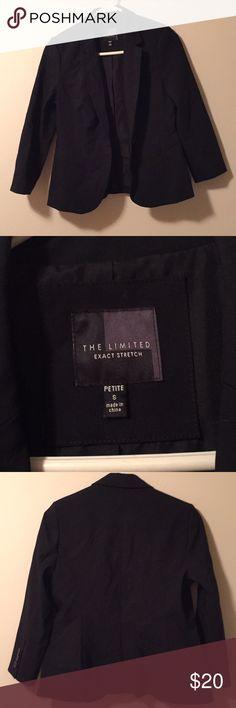 The Limited- Black Women's Blazer Black Petite One Button Blazer Size Petite Small 2 fake pockets, Never worn The Limited Jackets & Coats Blazers