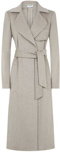 Armani Beige Wool Trench Coat