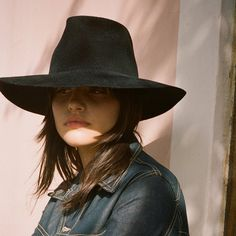 0836fe73d99 Clyde Wide Brim Black Pinch Hat  sol  Shop Super Street - 2 Felt Hat
