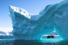 Sailing past enormous glaciers and ice sculptures in Antarctica