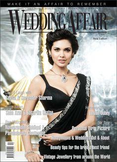 Esha Gupta on The Cover of Wedding Affaif Magazine - January 2013