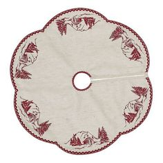 Cabin Christmas Mini Small Miniature Tree Skirt 21  Holiday Decoration *** This is an Amazon Affiliate link. See this great product.