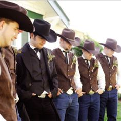 This is how I want the guys tp dress, but with grey vests.