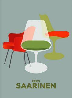 Eero Saarinen chairs #modern #midcenturymodern