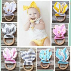 24Pcs Plastic Handmade Baby Teething Ring Chewie Teether Sensory Toy Gift