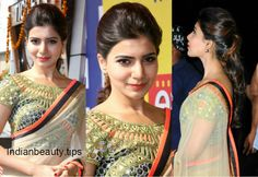 samantha prabhu hairstyles, heroine samantha hairstyles, samantha ruth prabhu hair styles, samantha's hairstyles with sarees, indian party wear hairstyles South Indian Hairstyle, Indian Hairstyles, Celebrity Hairstyles, Ponytail Hairstyles, Trendy Hairstyles, Wedding Hairstyles, Bollywood Hairstyles, Traditional Hairstyle, Indian Party Wear